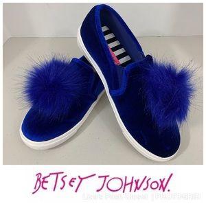 "Betsey Johnson ""Zappp"" Pom Pom Slip On Sneakers"